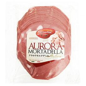 ボロニア ソーセージ スライス208g Mortadela Aurora Fat Farmefox【あす楽対応】