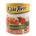 【業務用】レッドトマトソース(レッドサルサ)缶詰 la Torre 2800g red mexican sauce salsa roja 2.8kg【あす楽対応】【サルサロハ】【メキシコ産 タコスソー