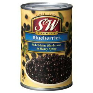 S&W ブルーベリーズ 425g【あす楽対応】【ブルーベリー・シラップづけ(ヘビー)】【ブルーベリー 缶詰 最安値】【S&W blueberries】【楽ギフ_包装】【楽ギフ_のし】10P04Mar17