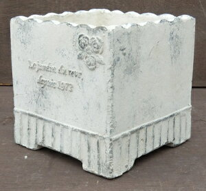 【15%OFF】植木鉢テラコッタ[174-067]5.5号素焼き陶器植木鉢鉢カバーおしゃれ可愛い正方形バラ柄ガーデニング(サイズ横17.5×奥行17.5×高さ17.5cm)