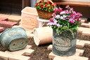 【15%OFF】植木鉢 プランター ファイバーストーン [194-921M] 8号 おしゃれ 可愛い 丸型 花 アンティーク風 ガーデニング (サイズ 直径…
