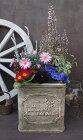植木鉢プランターファイバーストーン[194-924M]おしゃれ可愛い四角形アンティーク風ガーデニング