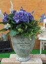 【15%OFF】植木鉢 プランター ファイバーストーン [194-932M] 8号 おしゃれ 可愛い 大型 丸型 花 アンティーク風 ガーデニング (サイズ…