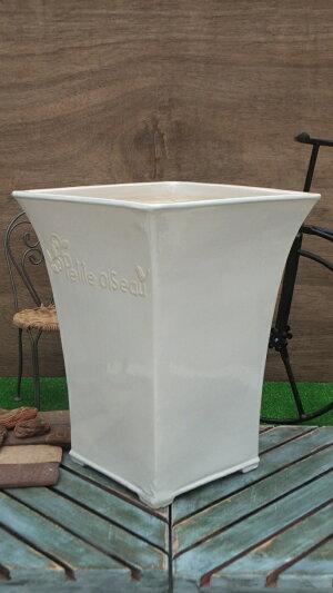 【15%OFF】観葉鉢[173-106L-01]10号植木鉢陶器観葉植物寄せ植え大型正方形おしゃれ可愛いガーデニングインテリア