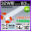 led蛍光灯 32w形 口金回転タイプ 直管 防虫 蛍光灯 led蛍光管 グロー式工事不要 昼光色 83cm 830mm G13 t8 32W型 PL賠…