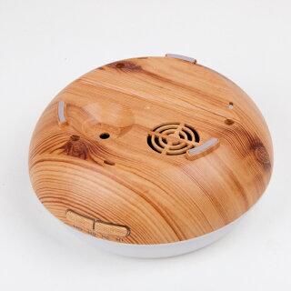 アロマディフューザーアロマ加湿器大容量400ml(木目)超音波式加湿器空気浄化器7色変換LED付き空焚き防止機能搭載時間設定