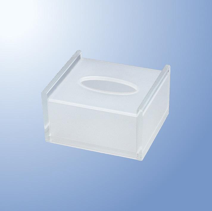 アクリル ハーフティッシュボックス Acryl mellinaメリーナ/国際化工 [AC200CL] 客室備品・ホテル向けアメニティ ティッシュケース プラスチック製
