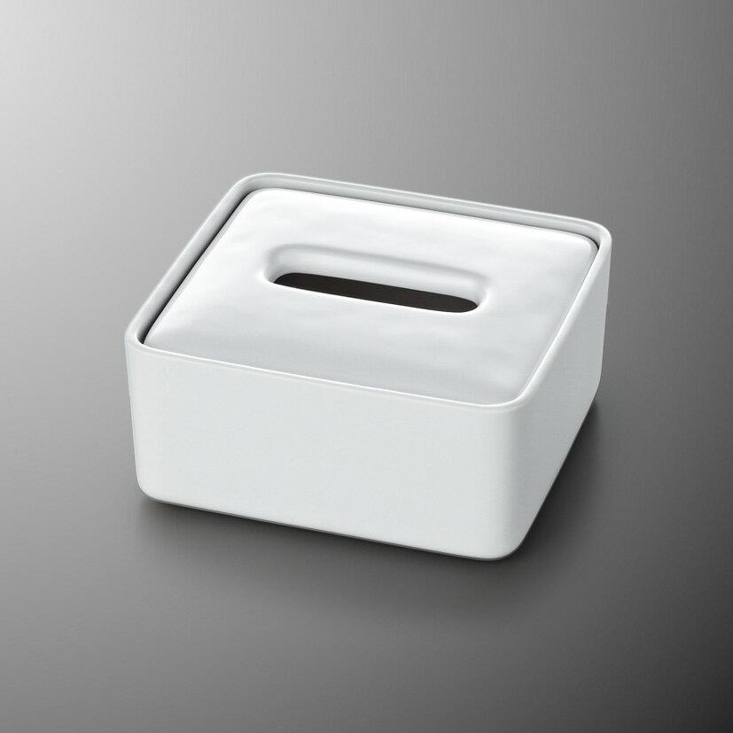 メラミン ハーフティッシュボックス ゆ・ら・ぎ/アイボリーホワイト(白) mellinaメリーナ/国際化工 [M705IW] 客室備品・ホテル向けアメニティ ティッシュケース