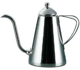 コーヒーポット TKG 18-8ステンレス製 ドリップピッチャー 600cc (7-0853-0101)