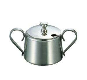 卓上用品 ティー・お茶・紅茶用品 砂糖・シュガー・容器・ポット ステンレス製 UK18-8 K型シュガーポット 7人用360cc(EBM21-1)(1287-02)
