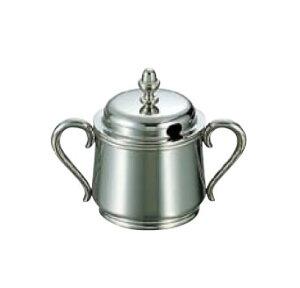卓上用品 ティー・お茶・紅茶用品 砂糖・シュガー・容器・ポット ステンレス製 UK18-8 B渕シュガーポット 5人用200cc(EBM21-1)(1287-04)