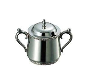 卓上用品 ティー・お茶・紅茶用品 砂糖・シュガー・容器・ポット ステンレス製 SW18-8 菊渕シュガーポット 5人用250cc(EBM21-1)(1287-06)