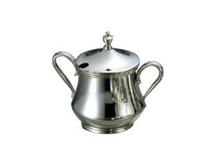 卓上用品 ティー・お茶・紅茶用品 砂糖・シュガー・容器・ポット ステンレス製 SW18-8 角シュガーポット(取手・蓋無) 5人用230cc(EBM21-1)(1287-08)
