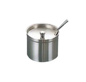 卓上用品 ティー・お茶・紅茶用品 砂糖・シュガー・容器・ポット ステンレス製 18-8 シュガーポット(レードル付)MR-275 280cc(EBM21-1)(1288-08)