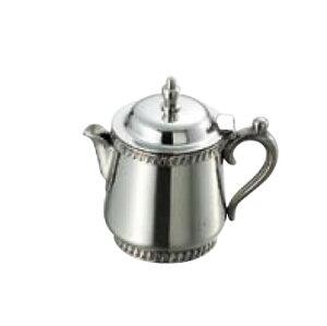卓上用品 ティー・お茶・紅茶用品 ミルク・シロップ・容器・ポット ステンレス製 SW 18-8菊渕ミルクポット 10人用250cc(EBM21-1)(1286-06)