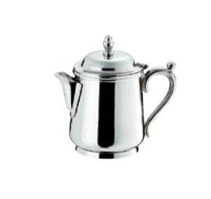 卓上用品 ティー・お茶・紅茶用品 ミルク・シロップ・容器・ポット ステンレス製 SW 18-8B渕ミルクポット 10人用250cc(EBM21-1)(1286-07)