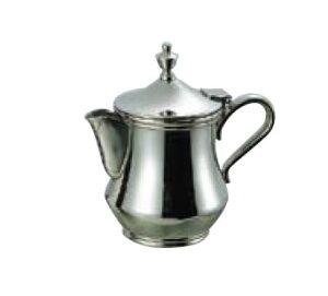 卓上用品 ティー・お茶・紅茶用品 ミルク・シロップ・容器・ポット ステンレス製 18-8 ダイヤミルクポット 3人用90cc(EBM21-1)(1286-08)