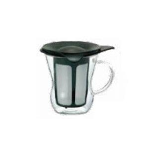 卓上用品 ティー・お茶・紅茶用品 ポット 耐熱ガラス製 HARIOハリオ ワンカップティーメーカー OTM-1B(ブラック) 200ml(EBM21-1)(1282-06)