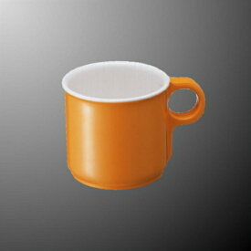 メラミン コーヒーカップ 100X76mm H63mm 185cc 身(ふたは別売り) オレンジロゼット[M141OR] マルケイ 業務用 食洗機対応 割れにくい 丈夫 業務用 プラスチック 樹脂 器 D8