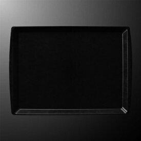 FRP 46cm アングルトレー 455X329mm H19mm ブラック FBトレー[N61B] マルケイ 業務用 長方形 トレイ 盆 お盆 おぼん 業務用 プラスチック 樹脂 耐熱 柄 シンプル D8