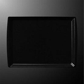 FRP 42cm アングルトレー 422X305mm H19mm ブラック FBトレー[N62B] マルケイ 業務用 長方形 トレイ 盆 お盆 おぼん 業務用 プラスチック 樹脂 耐熱 柄 シンプル D8