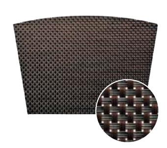 【ランチョンマット・テーブルマット・ランチマット】えいむブランナーマットブラック&ダークブラウンチェック扇(約44.5×30.5)PM-304(EBM17-1)(1550-22)