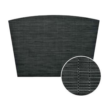 【ランチョンマット・テーブルマット・ランチマット】えいむ ブランナーマット ブラックストライプ 扇(約44.5×30.5cm)PM-308(EBM17-1)(1550-26)
