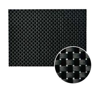 【ランチョンマット・テーブルマット・ランチマット】えいむブランナーマット ブラック&ブラックチェック PM-403中(約30×22cm)(EBM17-1)(1550-02)
