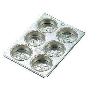 製菓用品・プチケーキ・焼菓子型 お菓子作り・道具 ブリキ マフィン型 動物型 6カップ (8-1072-1101)