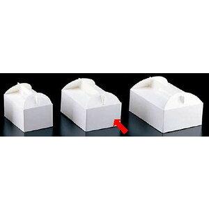 製菓用品・ラッピング ショートケーキボックス 21cm エコ洋生 キャリーボックス DE-52 4号(200枚入) (8-1099-1202)