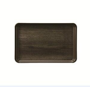 耐熱PP製/ノンスリップ カフェトレイ ウッドグレイン 307×198×17mm スリーライン[TC3120WG] オシャレな新色木目調トレー 業務用プラスチック製お盆 滑らない 食洗機対応