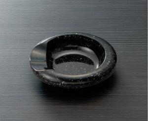 メラミン ホテルグッズ 灰皿 黒マーブルスリーライン[HG-110BKM] 客室備品・ホテル向けアメニティ プラスチック製アッシュトレイ 喫煙室 たばこ