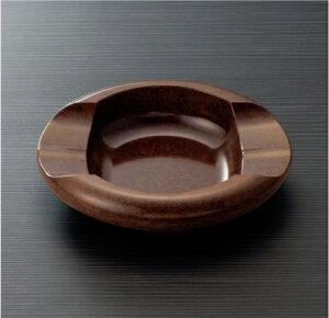 メラミン ホテルグッズ 灰皿 茶マーブルスリーライン[HG-132BRM] 客室備品・ホテル向けアメニティ プラスチック製アッシュトレイ 喫煙室 たばこ