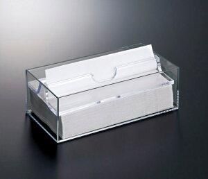 スチロール ホテルグッズ ペーパータオルボックス クリア(244×125×高さ86mm) スリーライン[HWA-3] 客室備品・ホテル向けアメニティ・タオルペーパー入れボックス・ケース プラスチック製