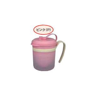 Daiwa|プラスチック食器|ストロー付コップ|介護・自助食器|病院|施設 10個セット/10個以上端数注文可 ラクのみマグ ピンク(Φ101×122×H78mm・200ml) (台和)[HS-N28-P]