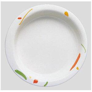 送料無料 Daiwa|プラスチック食器|メラミン製|介護・自助食器|病院|施設 10個セット/10個以上端数注文可 主菜皿・大 ワルツ(Φ215×H35mm・640ml) (台和)[HS-100-WA]