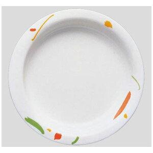 送料無料 Daiwa|プラスチック食器|メラミン製|介護・自助食器|病院|施設 10個セット/10個以上端数注文可 主菜皿・小 ワルツ(Φ187×H27mm・355ml) (台和)[HS-101-WA]