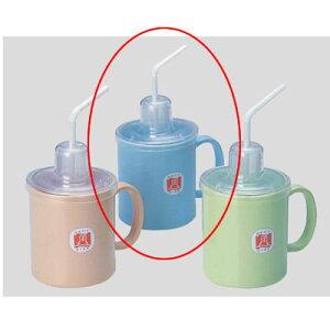 Daiwa|プラスチック食器|コップ|介護・自助食器|病院|施設 10個セット/10個以上端数注文可 ストロー付マグカップ ブルー(Φ80×114×H125mm・340ml) (台和)[HS-N4-B]