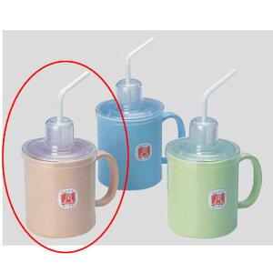 Daiwa|プラスチック食器|コップ|介護・自助食器|病院|施設 10個セット/10個以上端数注文可 ストロー付マグカップ ピンク(Φ80×114×H125mm・340ml) (台和)[HS-N4-P]