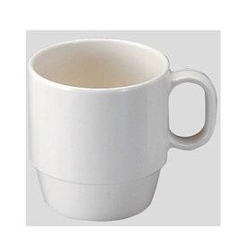 Daiwa|プラスチック食器|メラミン製|業務用|無地食器|学食|社員食堂|ホテル 10個セット/10個以上端数注文可 マグカップ ホワイト(Φ77×103×H82mm・270ml) (台和)[MN-21]