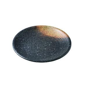 メラミン φ29.3cm乱引き丸皿 焼き締め(φ293×H32mm) 福井クラフト[ML1-28-5]  飲食店・ビュッフェなどに最適 丈夫なプラスチック 業務用メラミン製食器
