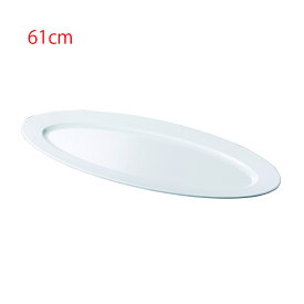 メラミン 61cm小判盛皿 白(610×230×H40mm) 福井クラフト[ML1-51-6]  飲食店・ビュッフェなどに最適 丈夫なプラスチック 業務用メラミン製食器
