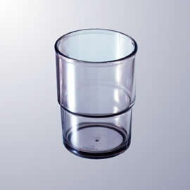 AS樹脂スタッキングタンブラー直径68mmH80mm200ccスモークPCクリア[CP9SU]マルケイ業務用食洗機対応割れにくい丈夫業務用プラスチック樹脂コップタンブラーD8