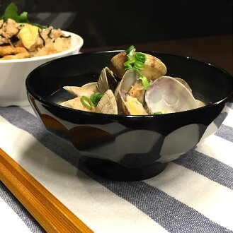 The unicolor (black) simple design of the melamine tableware (product made in resin made of plastic) / plain fabric which is hard to have a stake, a wound for melamine bowl black carapace of a turtle type [M-72-B] breaking. Is cheap; for business use, is