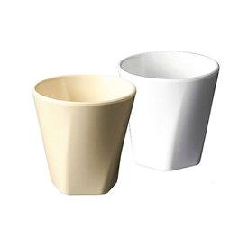 メラミン クリーミーカラー 五角フリーカップ 直径79mm H79mm 200cc ピーナッツ(クリーム)/シュガーミルク(白)[TG-1948] 五角形で持ちやすい スタッキング可能 容量少なめ 業務用 食洗機対応 割れにくい 丈夫 プラスチック 樹脂 コップ 東海興商(株)