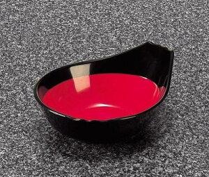 メラミン 和風食器アイテム ポンズ入 黒内朱 (133×105×47mm・180cc) マンネン/萬年[642-BR] 業務用 プラスチック製 メラミン製 樹脂製 和食器 とんすい タレ入れ ポン酢入れ