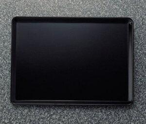 メラミン 和風食器アイテム 長角盆 黒 (335×244×18mm) マンネン/萬年[648-B] 業務用 プラスチック製 メラミン製 樹脂製 和食器 トレー お盆 お膳 トレイ 角