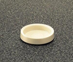 メラミン 灰皿 アイボリー(白) (110×25mm) マンネン/萬年[733A-I] 業務用 プラスチック製 メラミン製 樹脂製
