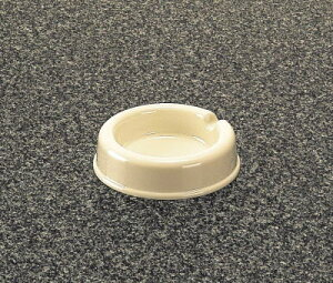 メラミン 灰皿 アイボリー(白) (94×25mm) マンネン/萬年[741-I] 業務用 プラスチック製 メラミン製 樹脂製