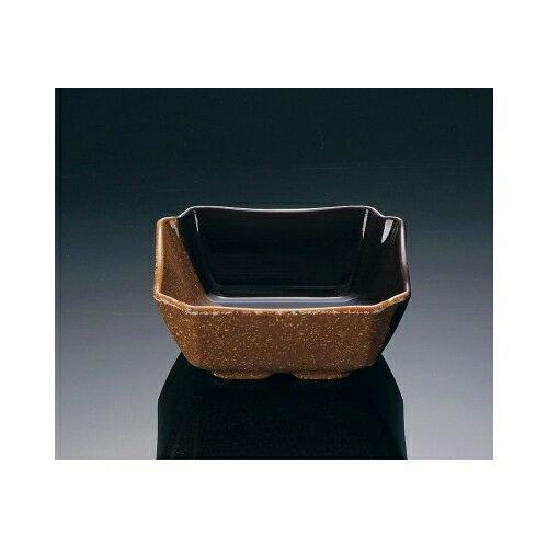 メラミン ハーフトーン 角小鉢 カカオ (93×93×38mm・160cc) マンネン/萬年[CA-778] 業務用 プラスチック製 メラミン製 樹脂製 和食器 角小鉢 角鉢 角型小鉢 小付